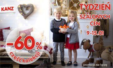 TYDZIEŃ SZALONYCH CEN -60% na część kolekcji