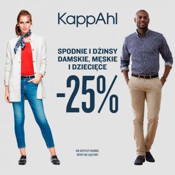 Dżinsy i spodnie taniej o 25% w KappAhl!