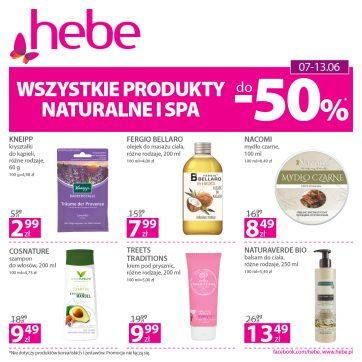 Wszystkie produkty naturalne i SPA*