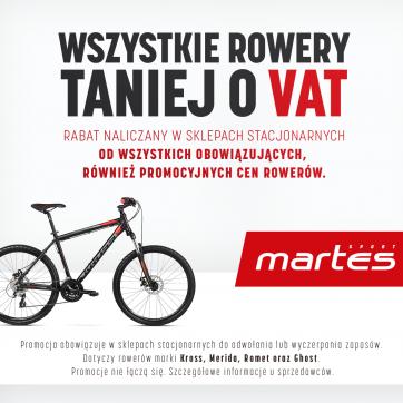 Wszystkie rowery taniej o VAT!