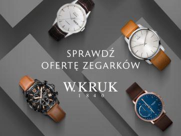 Zegarki znanych marek w salonie W. KRUK w Atrium Reduta już w sprzedaży