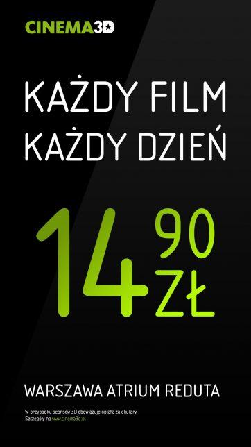 CINEMA3D Atrium Reduta. Kino w dobrych cenach.