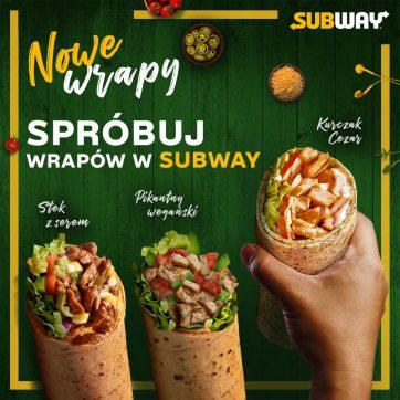 Trzy nowe wrapy XL i mrożone kawy smakowe w restauracjach Subway