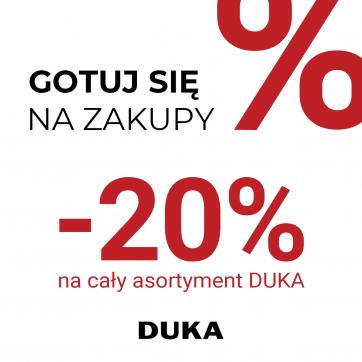 -20% na cały asortyment DUKA