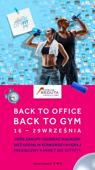 BACK TO OFFICE BACK TO GYM