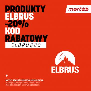 Rabat na produkty marki ELBRUS