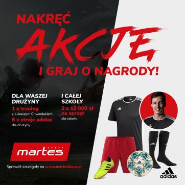 MartesKlasa – konkurs dla szkolnych piłkarzy
