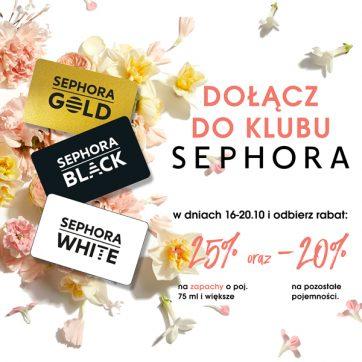 Dołącz o Klubu Sephora i odbierz rabat!