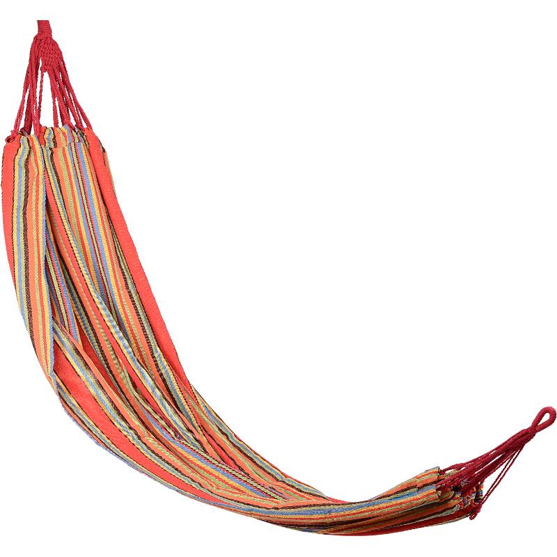 Carrefour - hamak w kolorowe pasy