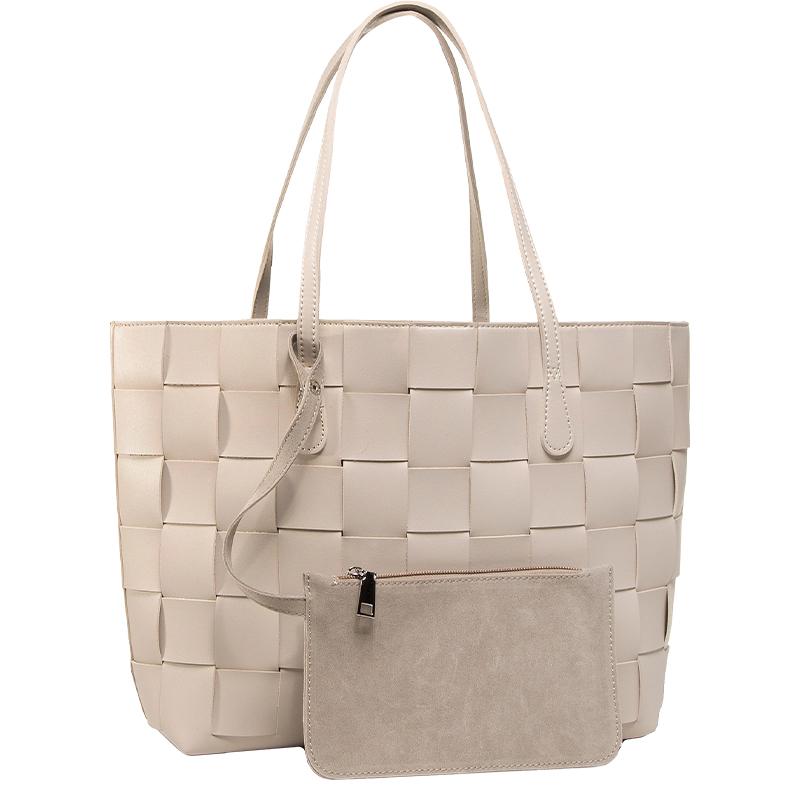 torba typu shopper o plecionej fakturze