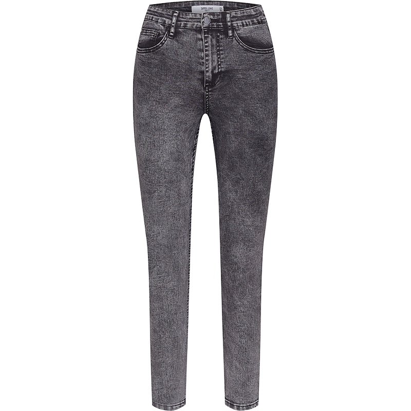 spodnie jeansowe z wysokim stanem