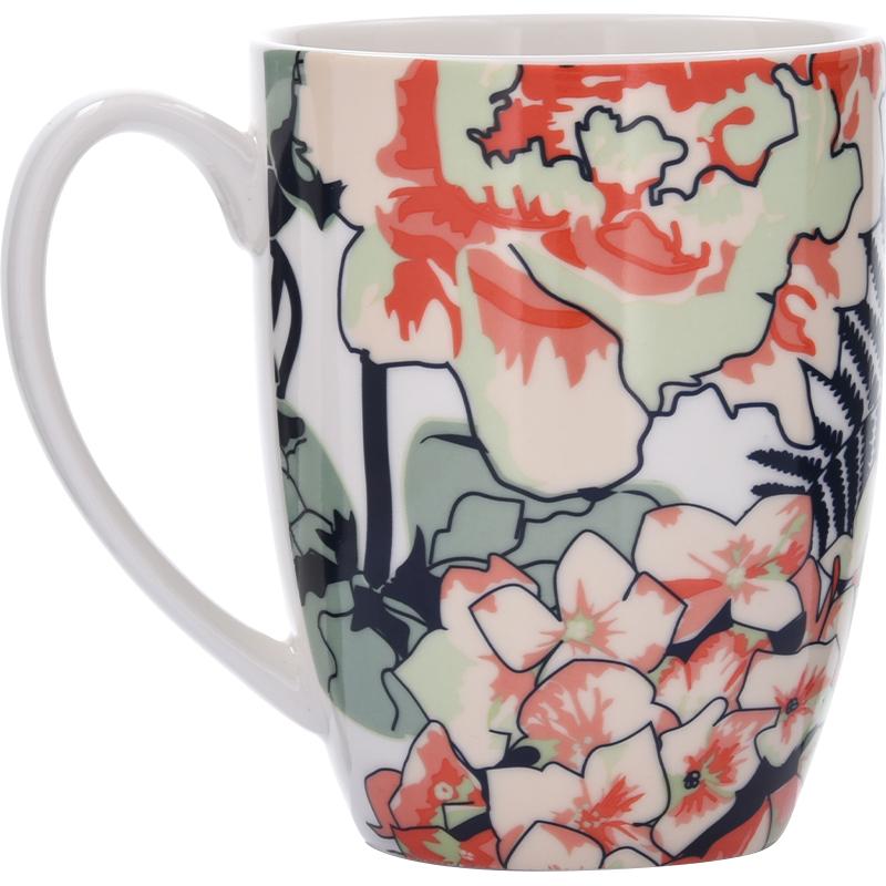 Duka - kubek porcelanowy z kolorowym zdobieniem