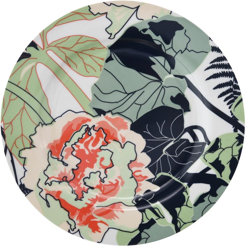 talerzyk porcelanowy z kolorowym zdobieniem